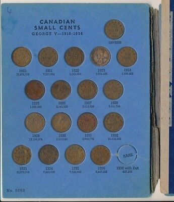 Canadian Small Cent Complete Collection 1920-1972-Circulated Coins-Free Ship!