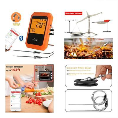 BBQ Meat Thermometer, Bluetooth Remote Wireless Digital Cooking With 6 Probe For