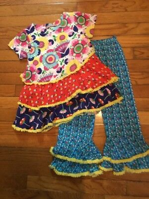 Jelly The Pug ~ Picnic Collection ~ Cute !!  Emily Knit Set ~ Girls Size 6 - Euc
