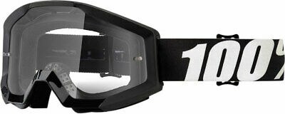 100% MX Motocross STRATA Goggles (Outlaw w/Clear Lens)