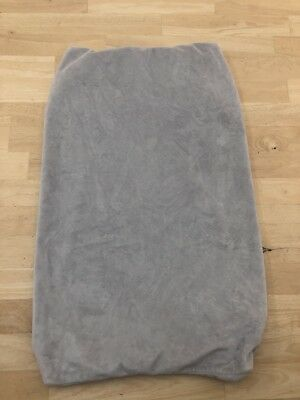 Pottery Barn Kids baby luxe chamois changing pad cover - Gray