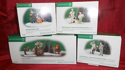 Department  Dept 56 Christmas in the City Series Village collectible figures lot