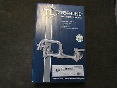 top line wall mount eight inch faucet