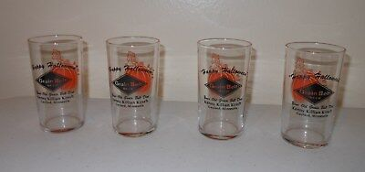 "Vintage GRAIN BELT Beer Chaser Glass~ ""HAPPY HALLOWEEN""~ Minnesota"