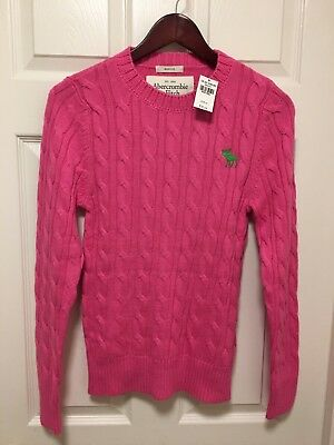Abercrombie & Fitch Men's Muscle Cable Cotton Sweater NWT Size Small
