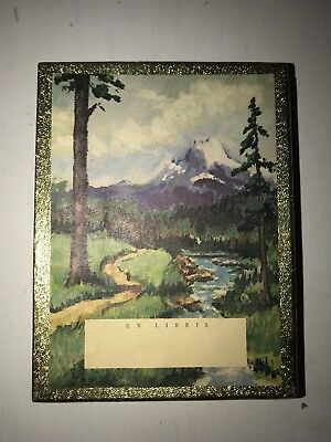 RARE Vintage Antioch Bookplate Co Bookplates Snow Mountain River Stream 34 Count