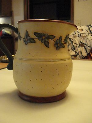 Bob's Pottery Hand Painted Ceramic Pitcher, Art by Karen Hillerd Crouch ???