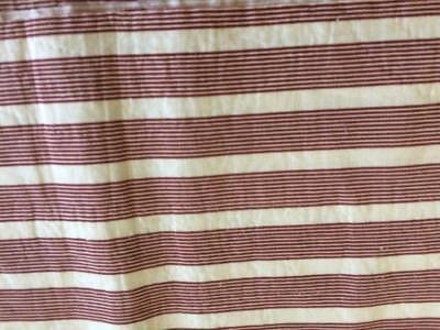 ~Back In Time Textiles~RARE Antique 1860 early stripe fabric pc HUGE!
