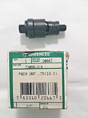Greelee 730BB-3/4 Knockout Punch