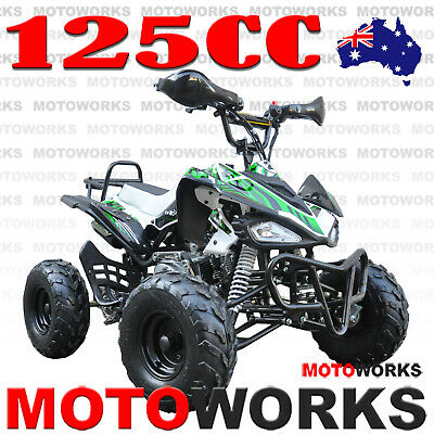 MOTOWORKS SPORTS 125CC ATV QUAD Bike Dirt 4 Wheeler Buggy trail pit green