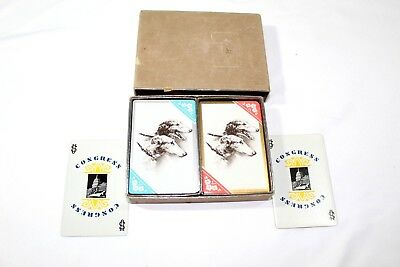 Vintage Borzoi Russian Wolfhounds Playing Cards- 2 sets 106 cards