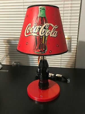 Coca Cola Bottle Lamp With Shade-Limited Edition-Rare