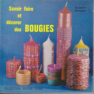 Vintage Soft Cover French Craft Book Décorer des Bougies Fantasy Candles