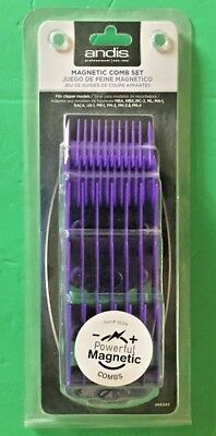 andis 5 piece magnetic clipper replacement guards comb set