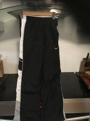 Unisex Children's Black NIKE trackpants ... White Trim... Sz M ...10/12