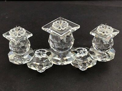 Swarovski Crystal Triple Tier Pin Spike Style Candle Holder