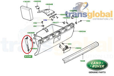 Land Rover Freelander 2 Glove Box Hydraulic Arm Damper - GENUINE LR - LR039802