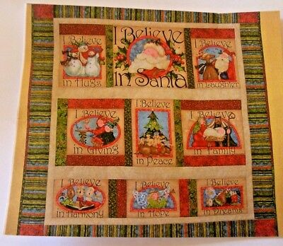 Quilt Kit Christmas Xmas I Believe in Santa - Includes Pattern & All Fabric