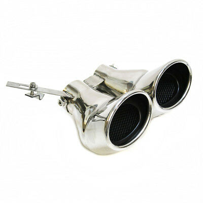 Double Exhaust Pipe Muffler Tip For Mercedes Benz AMG C Class W203 C240 C320