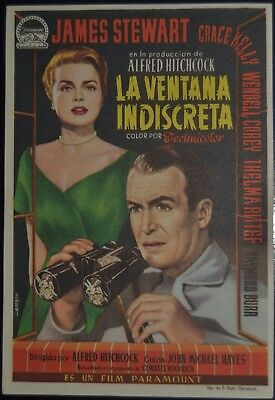 Rear Window Alfred Hitchcock James Stewart Grace Kelly Movie Poster