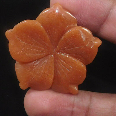 57.5 Cts Mexican   Treated Aventurine Rose 38X38 Cabochon Gemstone