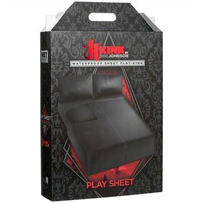 Wet Works Waterproof Play Sheet King Flat - Black / DS136627