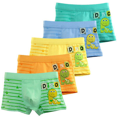 5PCS Boys Dinosaur Underwear Toddler Cotton Boxer Briefs Kids Children 5Color AU