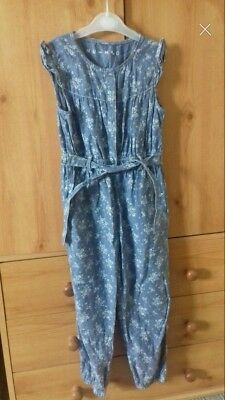Girls Jumpsuit 4-5 Years Nutmeg Excellent Condition