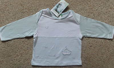 Dr Bombazine Baby Boys Long Sleeved Top Age 12 Months Bnwt