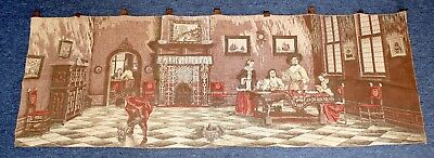 Large Antique Tapestry Wall Hanging   60cm High / 170cm Wide