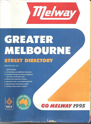 MELWAY 1995 STREET DIRECTORY GREATER MELBOURNE EDITION 23 Very good condition