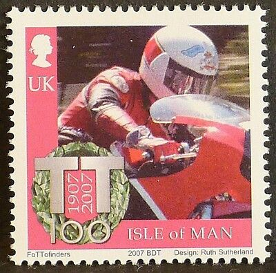 Steve Hislop at Isle of Man TT Races on 2007 stamp - unmounted mint