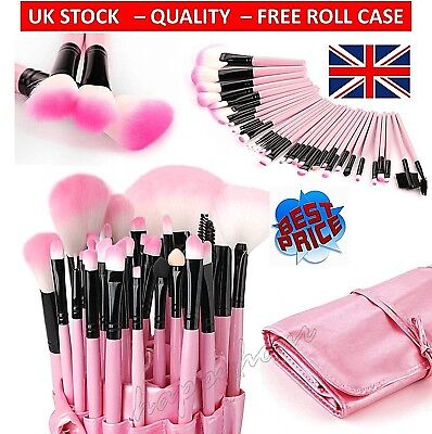 32Pcs Professional Make Up Brush Set Foundation Brushes Kabuki⭐️Cosmetic Bag