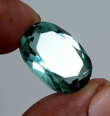 Natural Certified 12.50 Ct Oval Shape  Aqua White TOPAZ Loose Gemstone