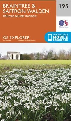 OS Explorer map 195: Braintree and Saffron Walden