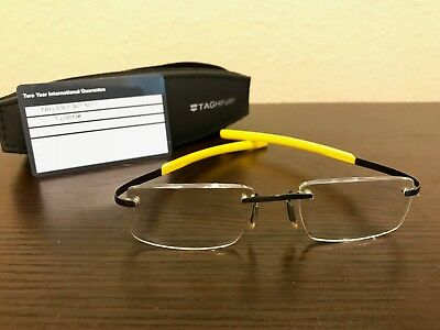 Tag Heuer 0301 Ceramic Black and Racing Yellow Eye Glass Frames