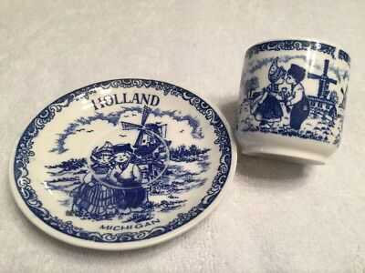 Vtg Holland Michigan Child's Teacup Saucer Souviner Perf Cond