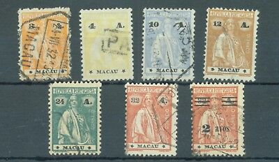 Macao 1924-33 Ceres 7 different used