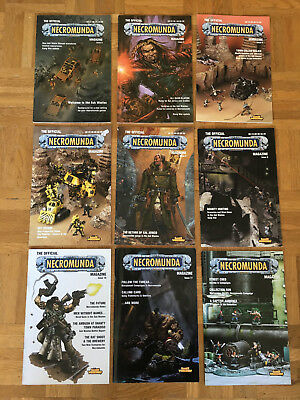 Games Workshop Necromunda Magazine Collection 9 issues good condition rare!