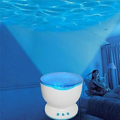 Led Projector With Mp3 Speaker Usb Ocean Wave Lamp With Speaker Night Light New
