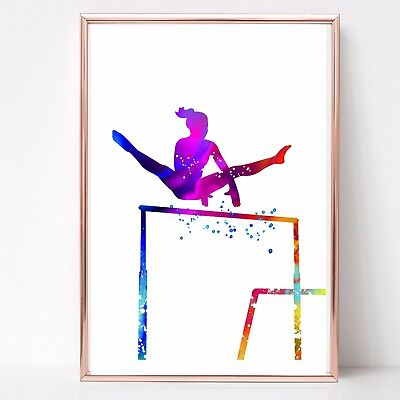 gymnastics print dance Watercolor a4  Print wall art picture gift 97 unframed