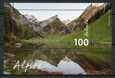 Switzerland 2018 MNH Alpstein Swiss Countryside 1v M/S Tourism Mountains Stamps