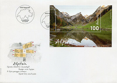 Switzerland 2018 FDC Alpstein Countryside 1v M/S Cover Tourism Mountains Stamps