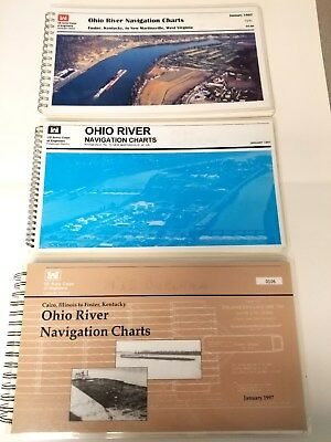 Ohio River Navigation Charts 1997 US Army Corps Engineers Cairo Foster Kentucky