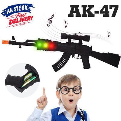 Cap Weapon Costume Children Police Battery Army Toy Gun Rifle