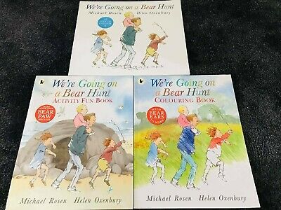 We're Going On a Bear Hunt  3 Books Collection, NEW, Paperback FREE P&P