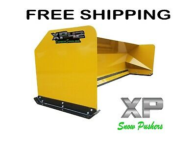 12' LOADER Snow pusher boxes backhoe snow plow Express Snow Pusher FREE SHIPPING