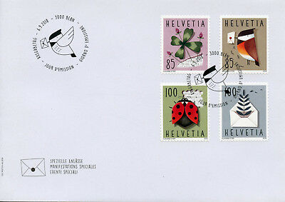 Switzerland 2018 FDC Special Events 4v S/A Cover Birds Ladybirds Flowers Stamps