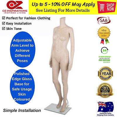 175cm Tall Female Mannequin Full Body Clothes Display Showcase Commercial-Detach