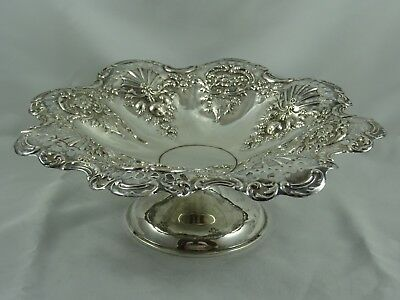 PRETTY solid silver FRUIT STAND, 1946, 336gm